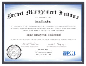 Craig Nootchtai Obtains Project Management Professional Designation (PMP)